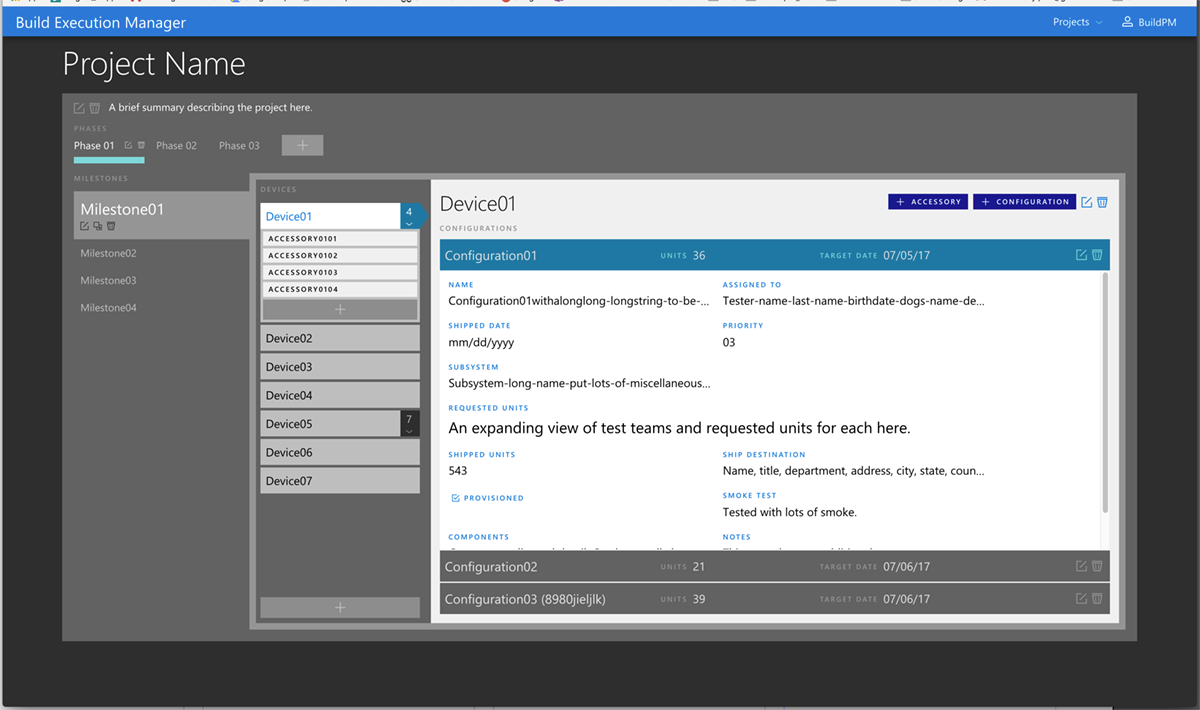 Microsoft Build Execution Manager dashboard