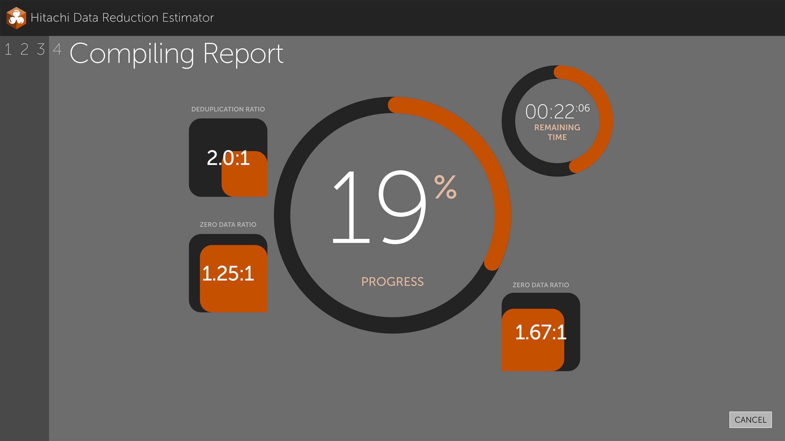 compiling report mockup